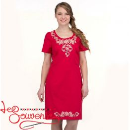 Embroidered Dress Tenderness of the rose VSU-1121