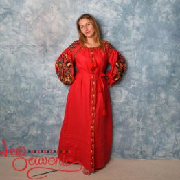 Embroidered Red Dress VSU-1134