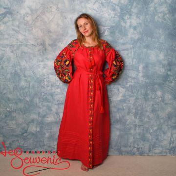 Embroidered Red Dress VSU-1134