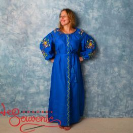 Embroidered Blue Dress VSU-1135