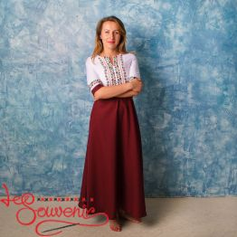 Embroidered Claret Dress VSU-1137