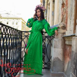 Embroidered Green Dress VSU-1144