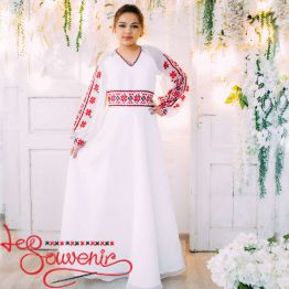 Wedding Dress with red embroidery VSU-1151