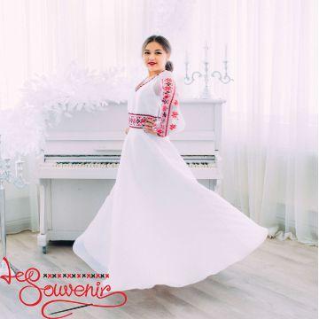 Свадебное платье с красной вышивкой VSU-1151