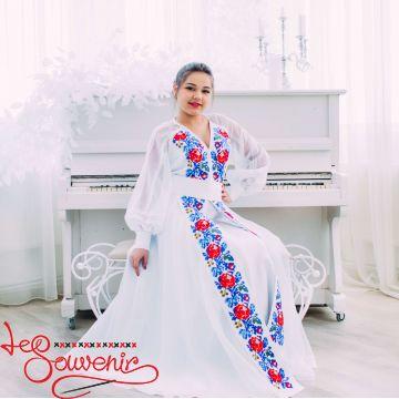 Весільна сукня з квітковою вишивкою VSU-1152