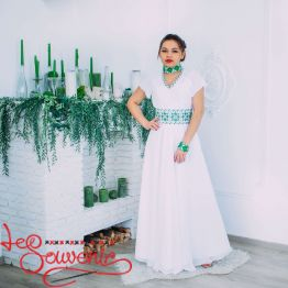 Wedding Dress with green embroidery VSU-1153