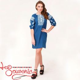 Embroidered Linen Dress VSU-1160