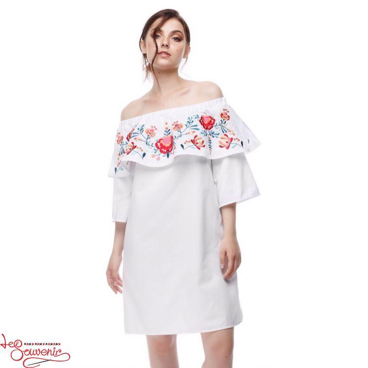 Вишита сукня Мрійлива біла VSU-1163 b8a3295f770e9