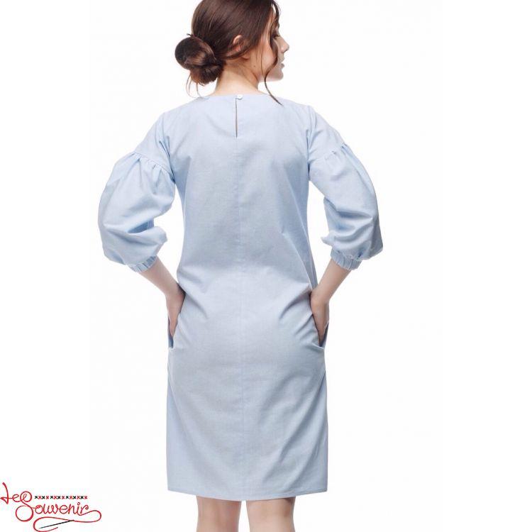 4a6adf2069cdc0e Вышитое платье Цветущая голубая VSU-1164, купить в Киев, Запорожье ...