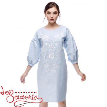 Вишита сукня Квітуча блакитна VSU-1164