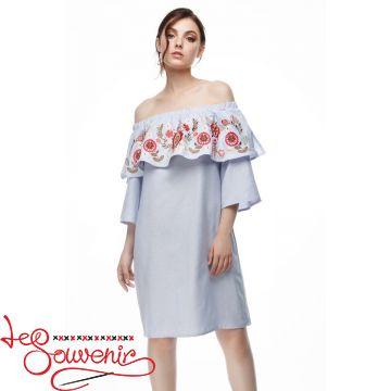 Вишита сукня Казкова блакитна VSU-1166
