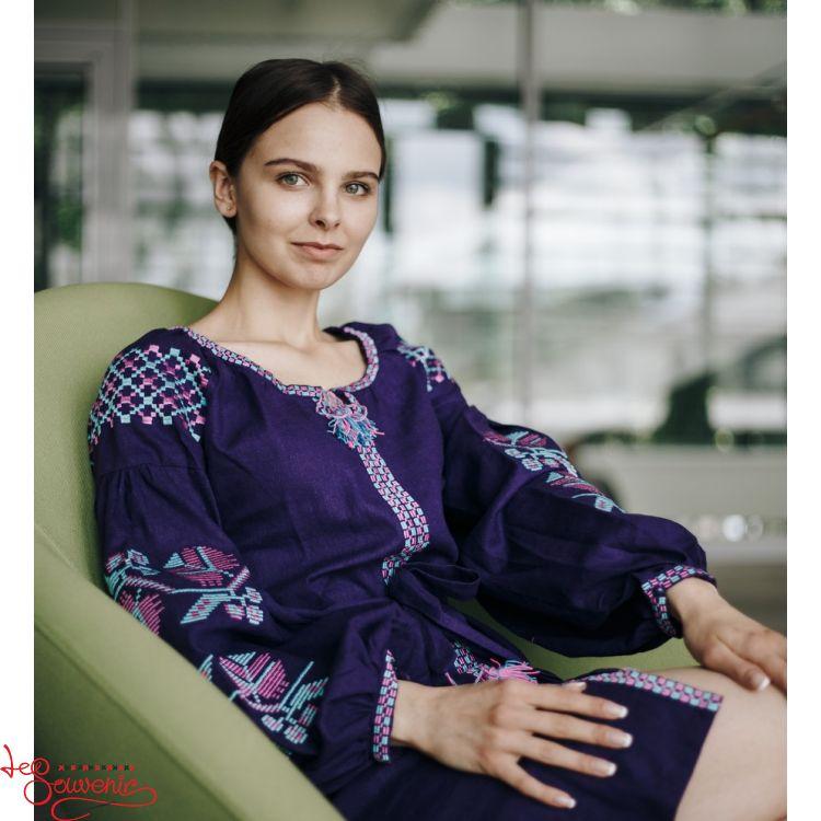 Сукня лляна Фіолетова магія VSU-1168 849b589e32c4a