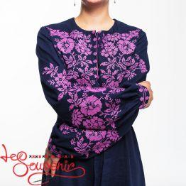 Linen Dress Pink magic VSU-1169
