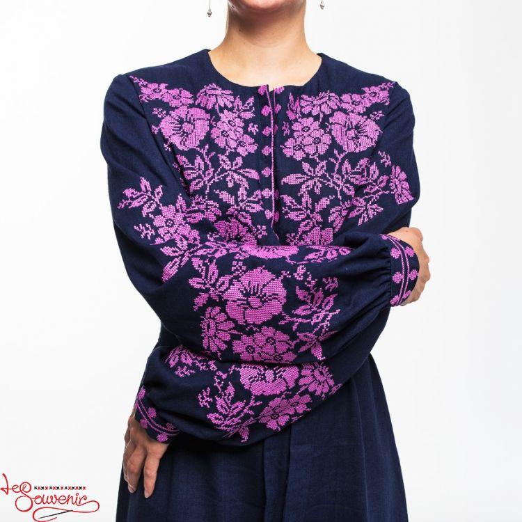 Linen Dress Pink magic VSU-1169 cb64023570017