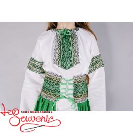 Embroidered Green Suit Fish DVK-1004