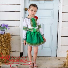 Suit with Green Embroidery DVK-1012