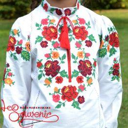 Embroidery Rainbow Rose DVS-1016