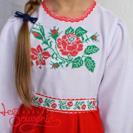 Вышитое платье Розочка VSS-1005