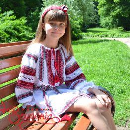 Сукня ткана червона VSS-1013