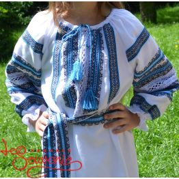 Сукня ткана блакитна VSS-1014