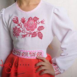 Вышитое платье Розочка VSS-1027