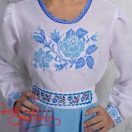 Вышитое платье Розочка VSS-1028