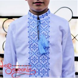 Embroidery Blue Ornament HVS-1056
