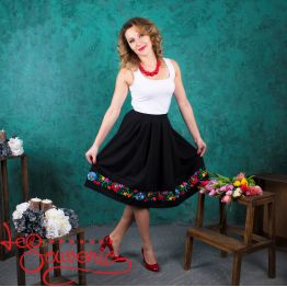Black Skirt with Pleats VSP-1001