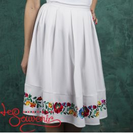 White Skirt with Pleats VSP-1002