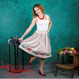 Beige Skirt with Pleats VSP-1003