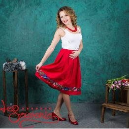 Red Skirt with Pleats VSP-1004