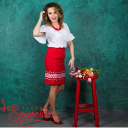 Red Skirt with Ornament VSP-1006