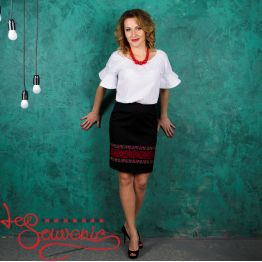 Black Skirt with Ornament VSP-1008