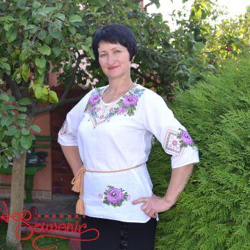 Вишиванка З бабусиної скрині фіолетова VS-1129